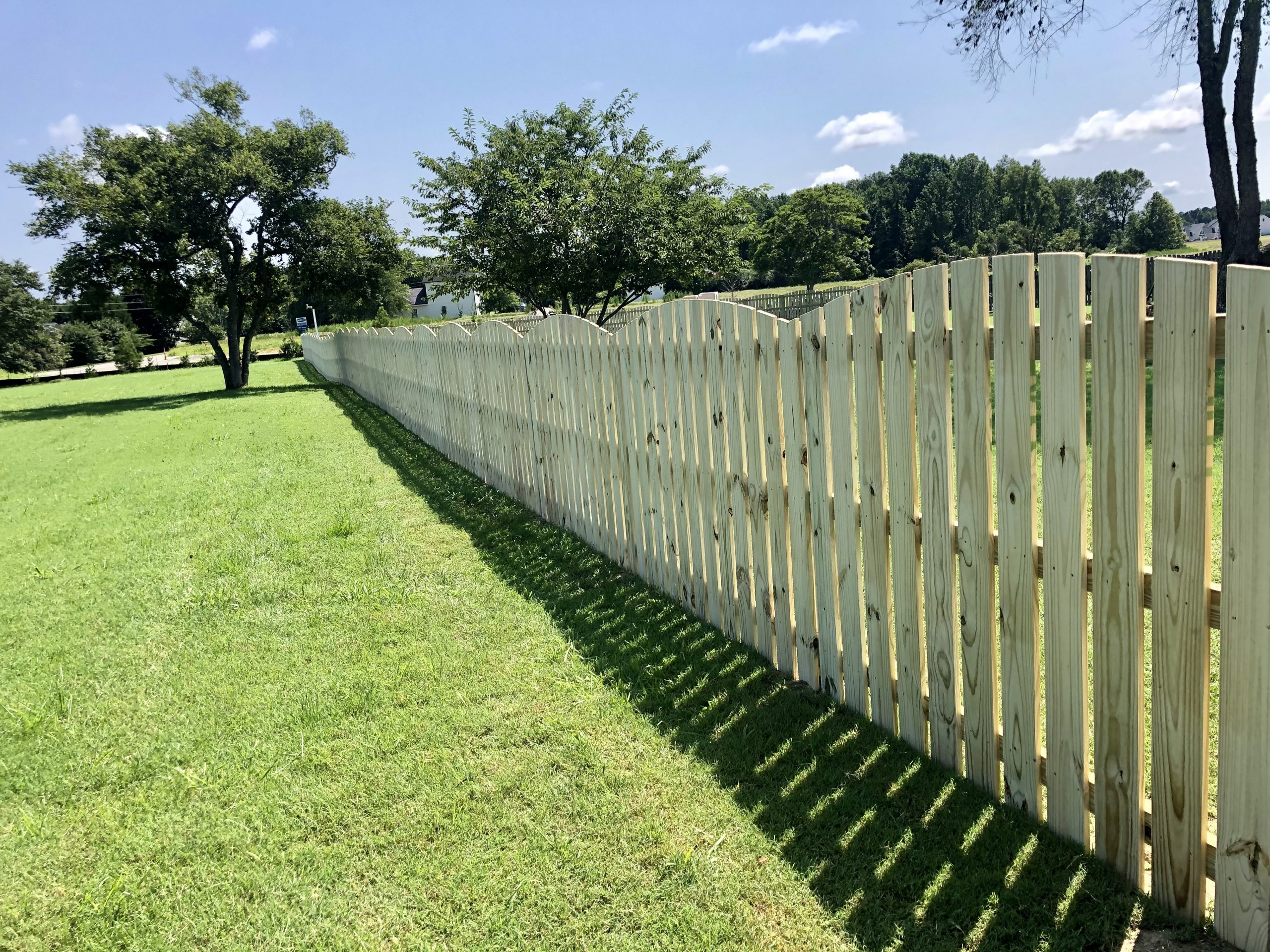 Arched - Spaced Picket - Wooden Fencing | Index Fence | Raleigh Fence Company